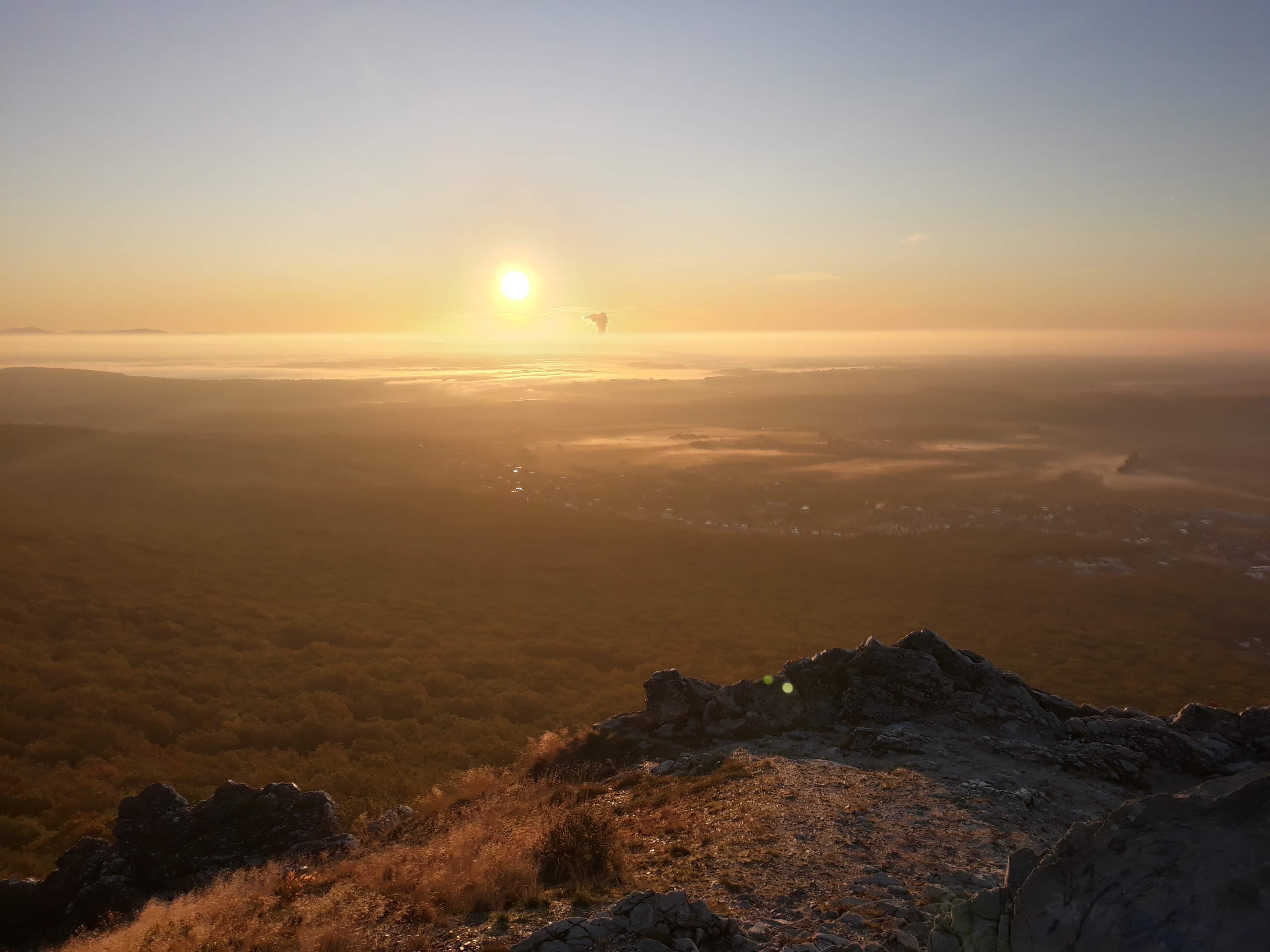 Východ slnka na Zobore